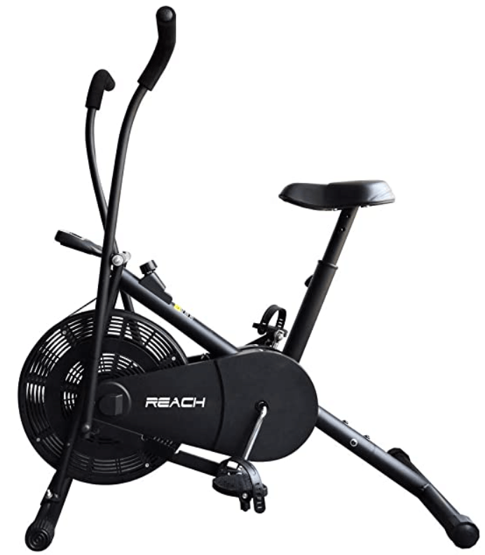 Reach Air Bike with Moving Handles Exercise Cycle.